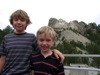 Boys in front of Rushmore